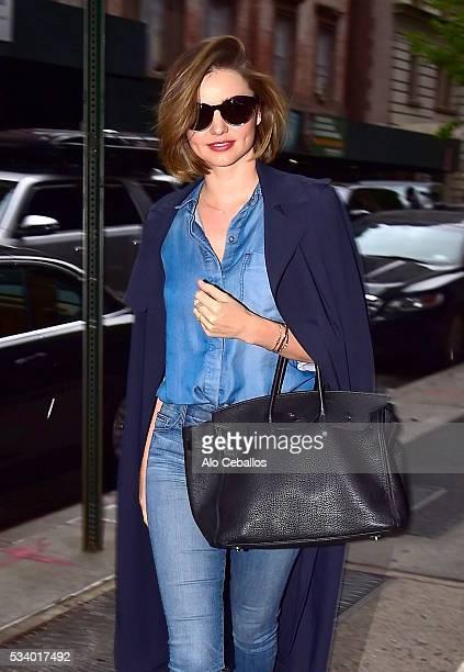 Miranda Kerr is seen in Soho on May 24 2016 in New York City