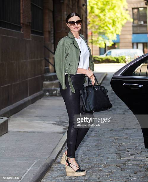 Miranda Kerr is seen leaving Spring Studios on May 25 2016 in New York City