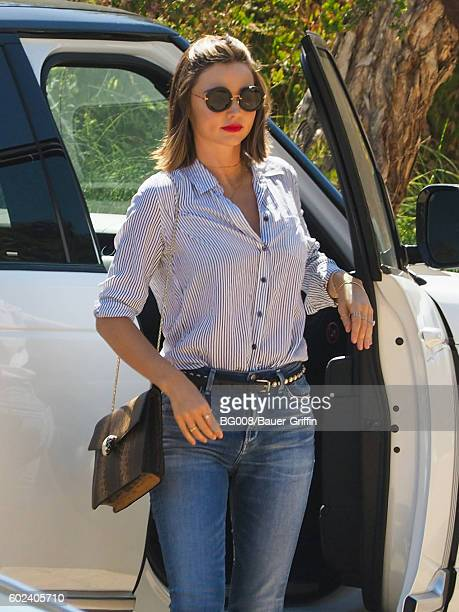 Miranda Kerr is seen on September 10 2016 in Los Angeles California
