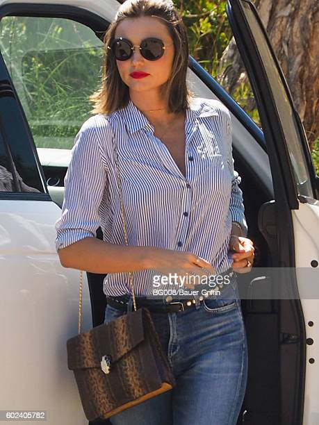 Miranda Kerr is seen on September 10 2016 in Los Angeles California