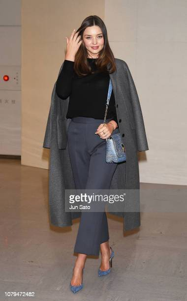 Miranda Kerr is seen upon arrival at Narita International Airport on January 9 2019 in Narita Japan