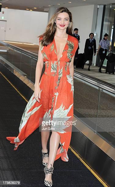 Miranda Kerr is seen upon arrival at Narita International Airport on July 18, 2013 in Narita, Japan.