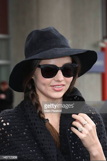 Miranda Kerr is sighted at Airport Roissy Charles de Gaulle on March 5 2012 in Paris France