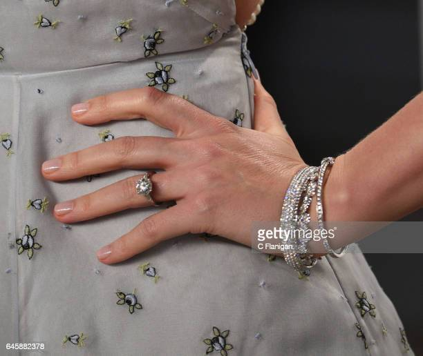 Miranda Kerr jewelry detail attends the 2017 Vanity Fair Oscar Party hosted by Graydon Carter at Wallis Annenberg Center for the Performing Arts on...