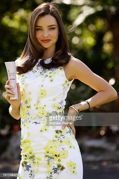 Miranda Kerr launches the new haircare range from Unilever at The Palmhouse Sydney Botanical Gardens on September 5 2012 in Sydney Australia