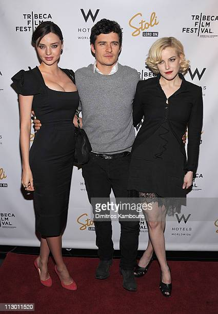 "Miranda Kerr, Orlando Bloom and Riley Keough attend the after party for the premiere of ""The Good Doctor"" during the 10th annual Tribeca Film..."