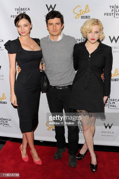 Miranda Kerr Orlando Bloom and Riley Keough attends the Tribeca Film Festival afterparty for The Good Doctor hosted by Stolichnaya Vodka at The W...