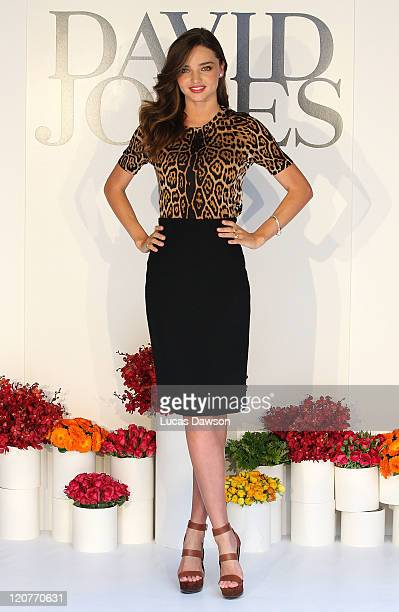 Miranda Kerr poses at the David Jones Spring/Summer fashion preview on Burke Street on August 10 2011 in Melbourne Australia