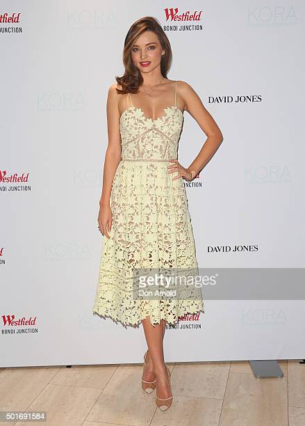 Miranda Kerr poses at Westfield Bondi Junction on December 17 2015 in Sydney Australia