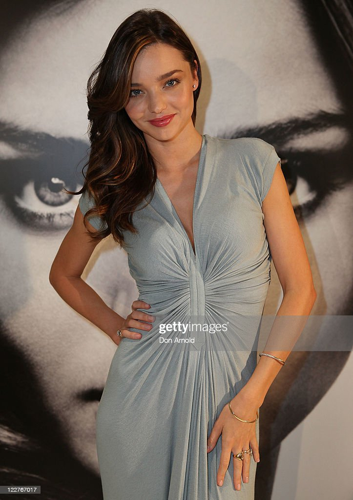 Miranda Kerr poses during an in-store event promoting her Kora skin care range at the David Jones Castlereagh Street store on August 29, 2011 in Sydney, Australia.