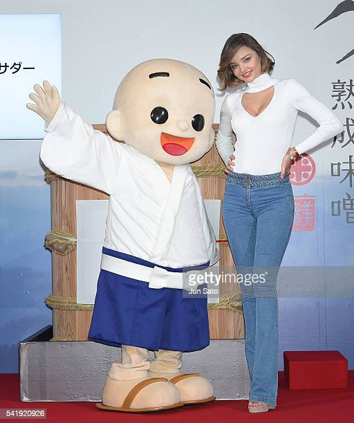 Miranda Kerr promotes 'Marukome Miso' on June 21 2016 in Nagano Japan