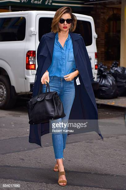 Miranda Kerr seen out in West Village on May 24 2016 in New York City