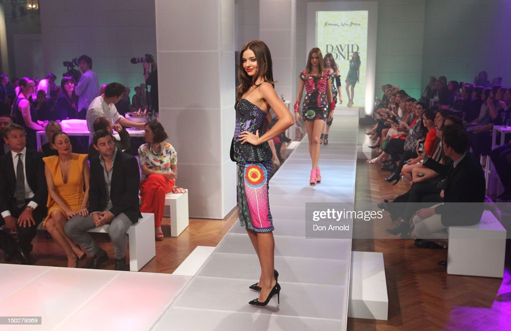 52bb6cdb8cbc1 Miranda Kerr showcases designs by Romance Was Born during the David ...
