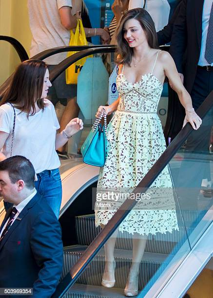 Miranda Kerr sighted at Westfield Bondi Junction as she arrived for her Kora Organics Pop Up store appearance on December 17 2015 in Sydney Australia