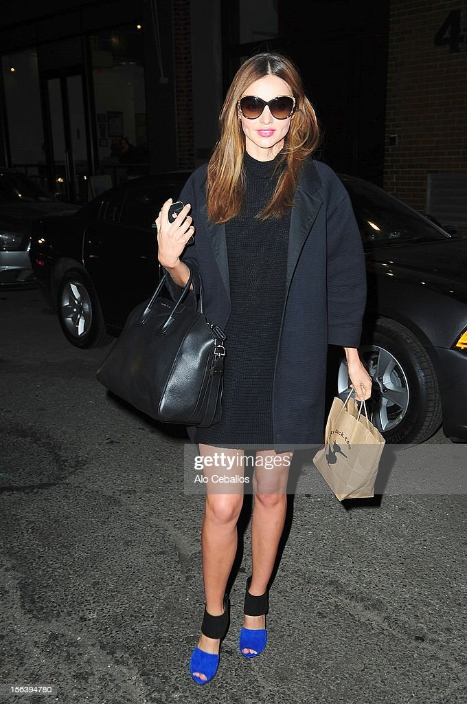 Miranda Kerr Sighting at Streets of Manhattan on November 14, 2012 in New York City.