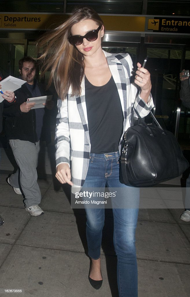 Miranda Kerr sighting on February 25, 2012 in New York City.