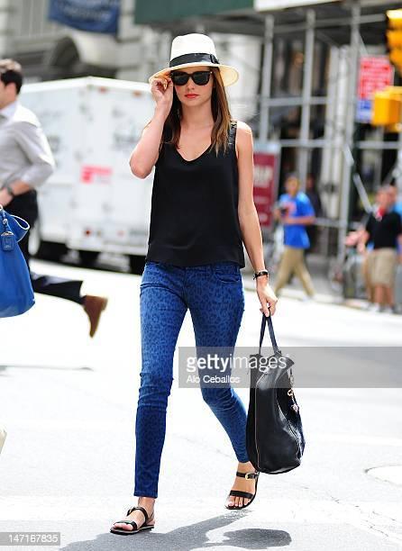 Miranda Kerr sighting on the streets of Manhattan on June 26 2012 in New York City