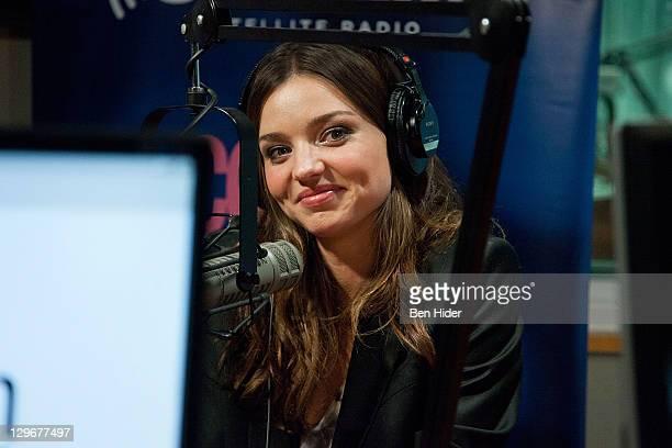 Miranda Kerr visits SiriusXM Studio on October 19 2011 in New York City