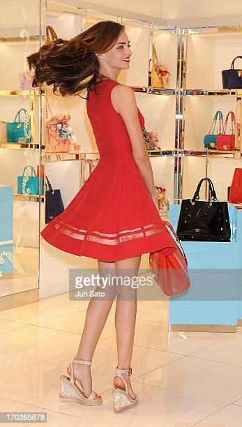 Miranda Kerr visits the Samantha Thavasa Store on June 12 2013 in Seoul South Korea