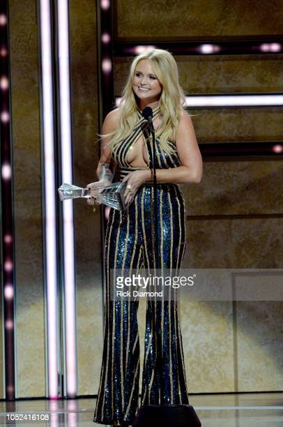 Miranda Lambert accepts an award onstage during the 2018 CMT Artists of The Year at Schermerhorn Symphony Center on October 17 2018 in Nashville...