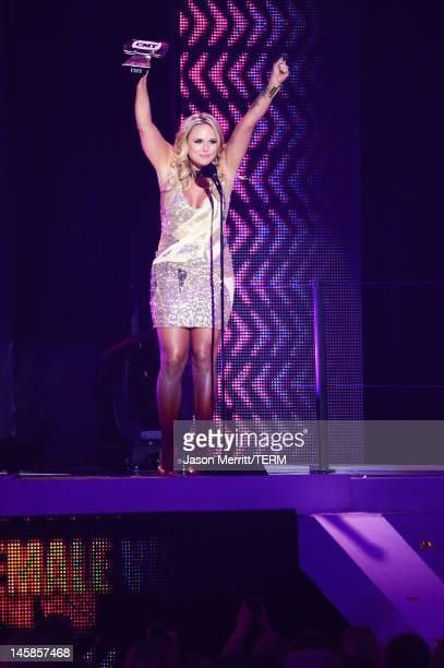 Miranda Lambert accepts award for Female Video of the year onstage at the 2012 CMT Music awards at the Bridgestone Arena on June 6 2012 in Nashville...