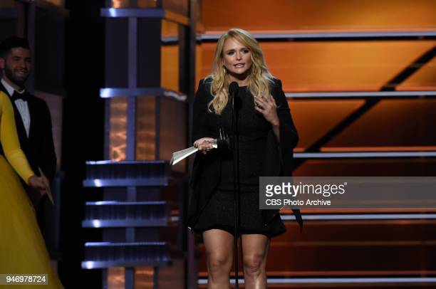 Miranda Lambert accepts the award for Female Vocalist of the Year at the 53RD ACADEMY OF COUNTRY MUSIC AWARDS live from the MGM Grand Garden Arena in...