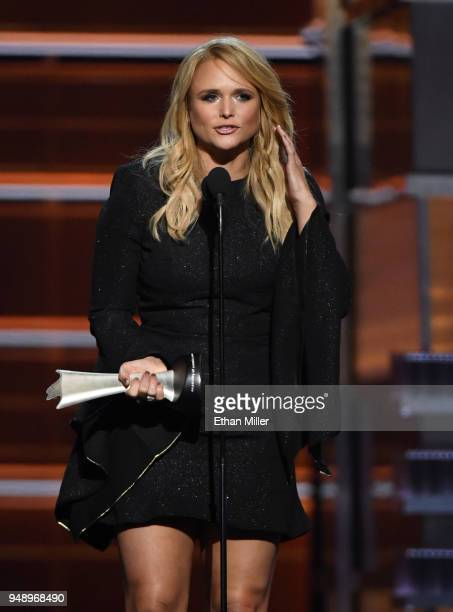 Miranda Lambert accepts the Female Vocalist of the Year award during the 53rd Academy of Country Music Awards at MGM Grand Garden Arena on April 15...