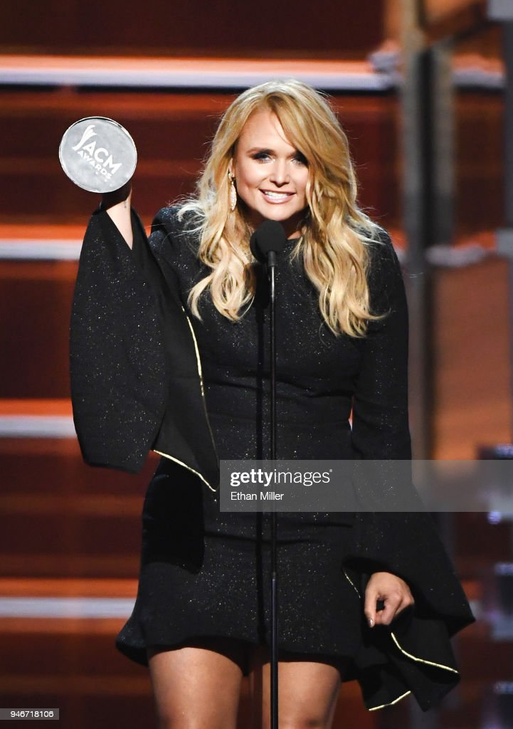 Miranda Lambert accepts the Female Vocalist of the Year award onstage during the 53rd Academy of Country Music Awards at MGM Grand Garden Arena on April 15, 2018 in Las Vegas, Nevada.
