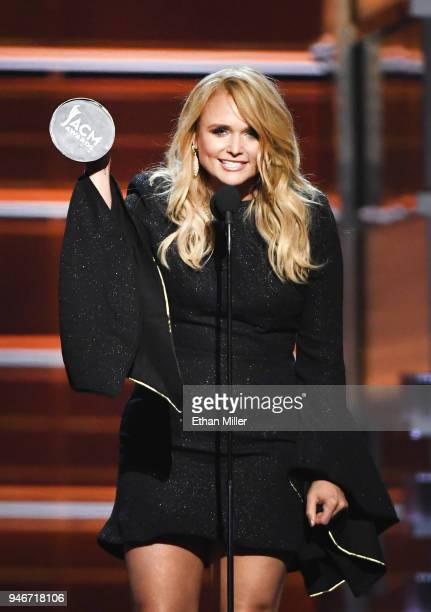 Miranda Lambert accepts the Female Vocalist of the Year award onstage during the 53rd Academy of Country Music Awards at MGM Grand Garden Arena on...