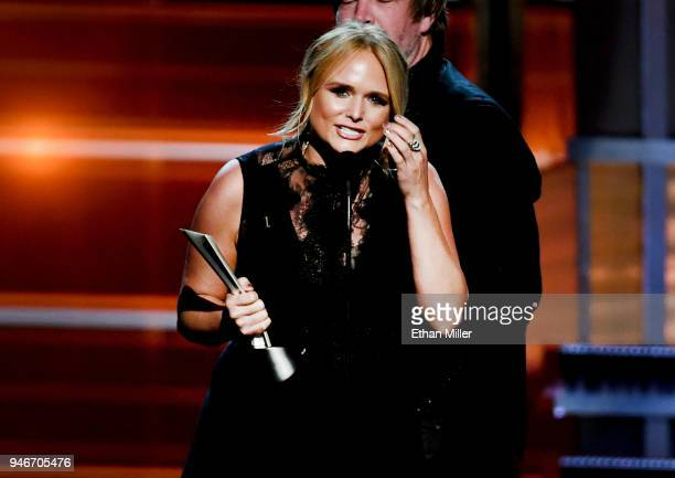 Miranda Lambert accepts the Song of the Year award for 'Tin Man' onstage during the 53rd Academy of Country Music Awards at MGM Grand Garden Arena on...