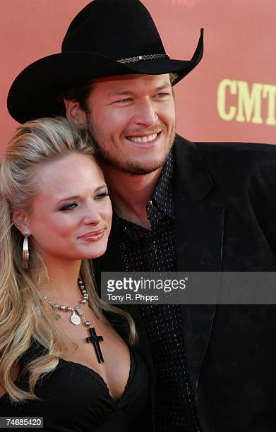 Miranda Lambert and Blake Shelton at the The Curb Event Center at Belmont University in Nashville Tennessee