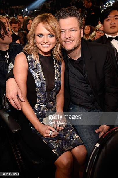 Miranda Lambert and Blake Shelton attend The 57th Annual GRAMMY Awards at STAPLES Center on February 8 2015 in Los Angeles California