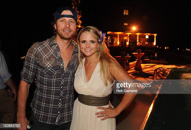 Miranda Lambert and Blake Shelton host their engagement party at Front Porch Farms on June 23 2010 in Charlotte Tennessee