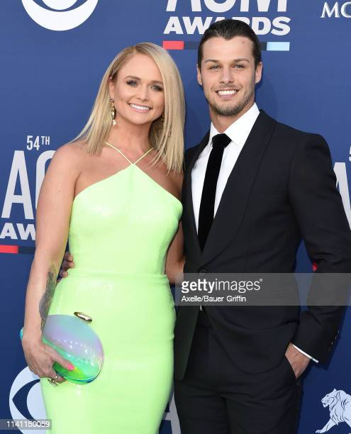 Miranda Lambert and Brendan McLoughlin attend the 54th Academy of Country Music Awards at MGM Grand Garden Arena on April 07 2019 in Las Vegas Nevada