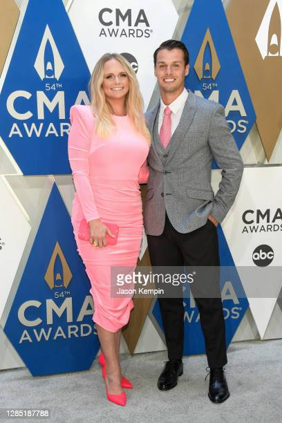 Miranda Lambert and Brendan Mcloughlin attend the 54th annual CMA Awards at the Music City Center on November 11, 2020 in Nashville, Tennessee.