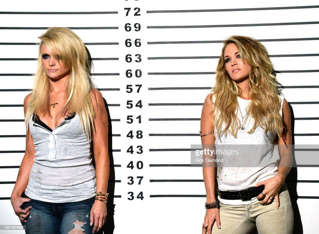 """Miranda Lambert And Carrie Underwood """"Something Bad"""" Video Shoot : News Photo"""