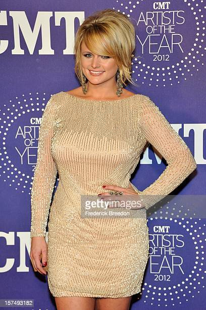 Miranda Lambert arrives at the 2012 CMT Artists Of The Year at The Factory At Franklin on December 3 2012 in Franklin Tennessee