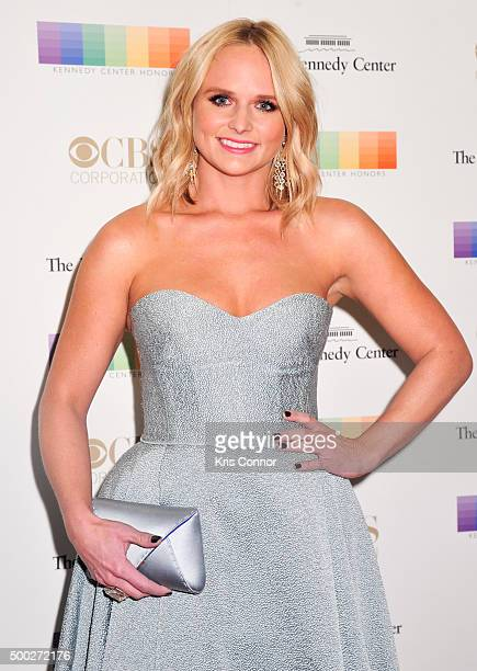 Miranda Lambert arrives at the 38th Annual Kennedy Center Honors Gala at the Kennedy Center for the Performing Arts on December 6 2015 in Washington...