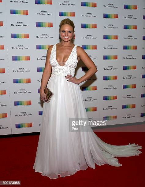 Miranda Lambert arrives for the formal Artist's Dinner honoring the recipients of the 38th Annual Kennedy Center Honors hosted by United States...