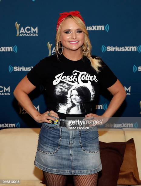 Miranda Lambert attends SiriusXM's The Highway channel broadcast backstage at the Academy of Country Music Awards on April 14 2018 in Las Vegas Nevada