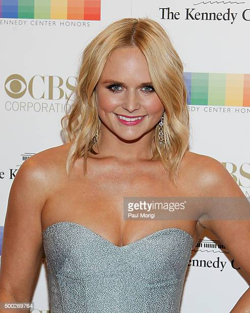 Miranda Lambert attends the 38th Annual Kennedy Center Honors Gala at John F Kennedy Center for the Performing Arts on December 6 2015 in Washington...