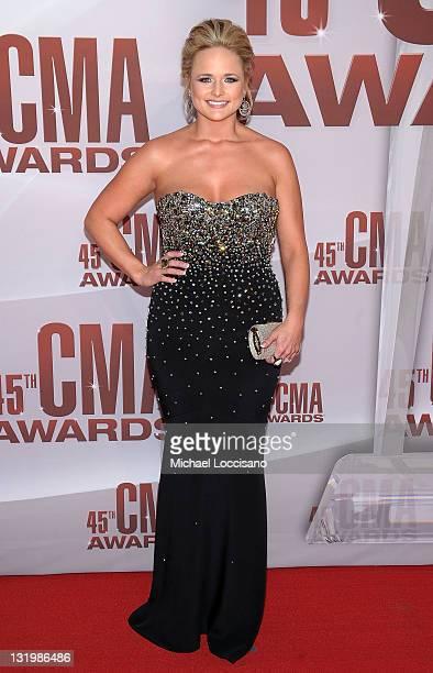Miranda Lambert attends the 45th annual CMA Awards at the Bridgestone Arena on November 9 2011 in Nashville Tennessee