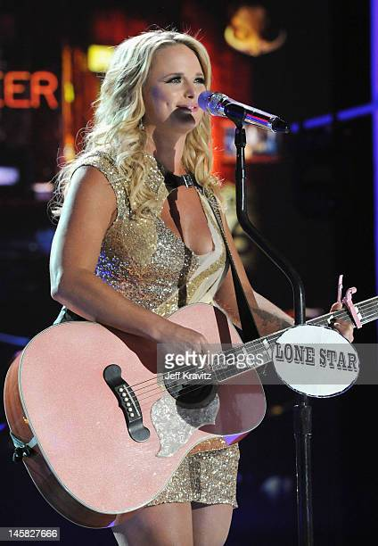 Miranda Lambert of the Pistol Annies performs onstage during the 2012 CMT Music awards at the Bridgestone Arena on June 6, 2012 in Nashville,...