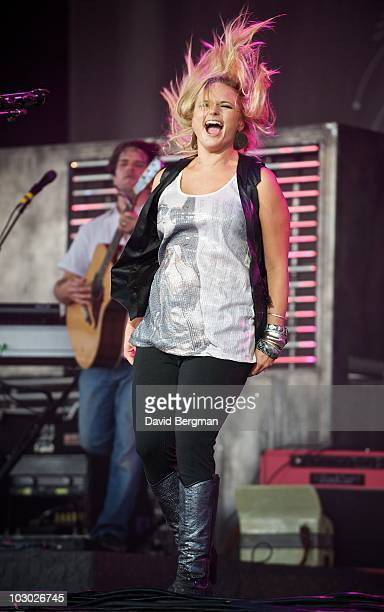 Miranda Lambert performs at the 2010 Lilith Fair at Verizon Wireless Music Center on July 20 2010 in Noblesville Indiana