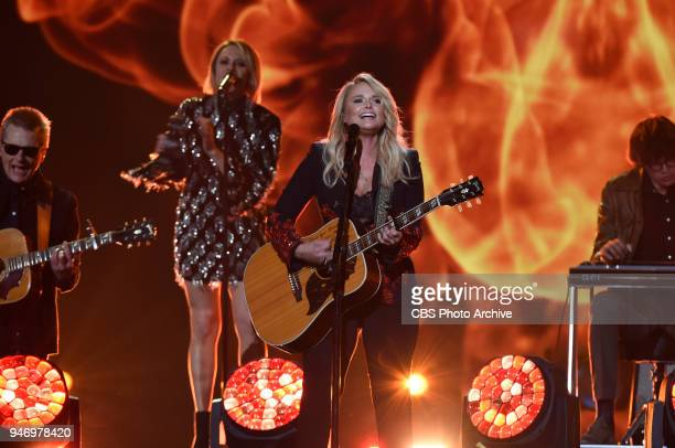 Miranda Lambert performs at the 53RD ACADEMY OF COUNTRY MUSIC AWARDS live from the MGM Grand Garden Arena in Las Vegas Sunday April 15 2018 at 800 PM...