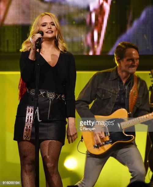 Miranda Lambert performs during her 'Livin' Like Hippies' tour at Golden 1 Center on February 8 2018 in Sacramento California