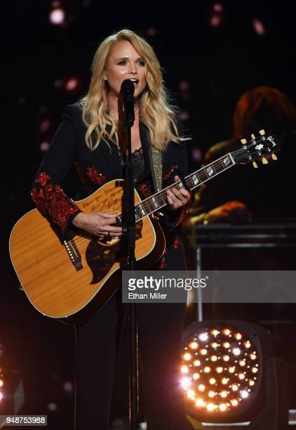 Miranda Lambert performs during the 53rd Academy of Country Music Awards at MGM Grand Garden Arena on April 15 2018 in Las Vegas Nevada