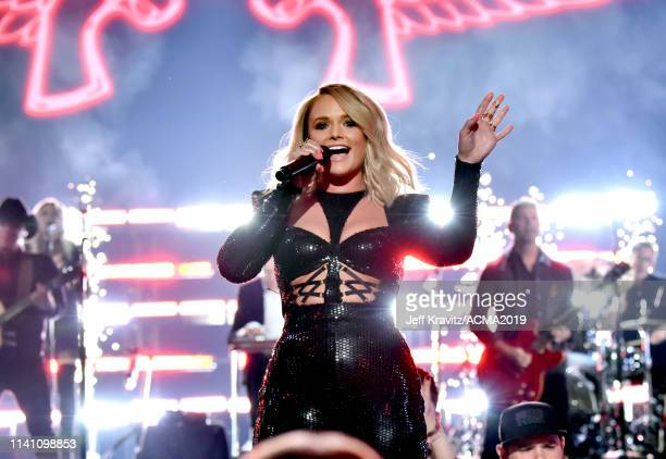 Miranda Lambert performs during the 54th Academy Of Country Music Awards at MGM Grand Garden Arena on April 07 2019 in Las Vegas Nevada