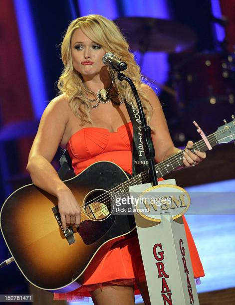 Miranda Lambert performs during the celebration of Loretta Lynn's 50th Opry Anniversary at The Grand Ole Opry on September 25 2012 in Nashville...