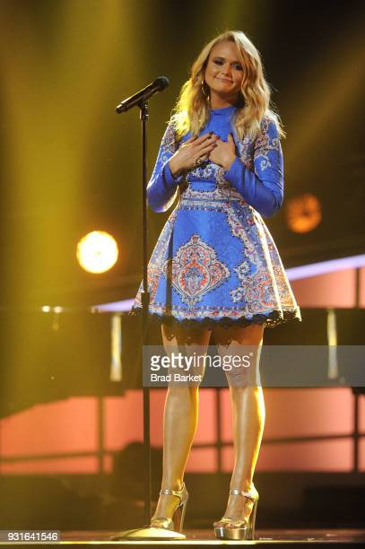 Miranda Lambert performs during the Elton John I'm Still Standing A Grammy Salute at The Theater at Madison Square Garden on January 30 2018 in New...